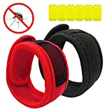 2-PACK Mosquito and Insect Repellent Bracelets with 6 Refills