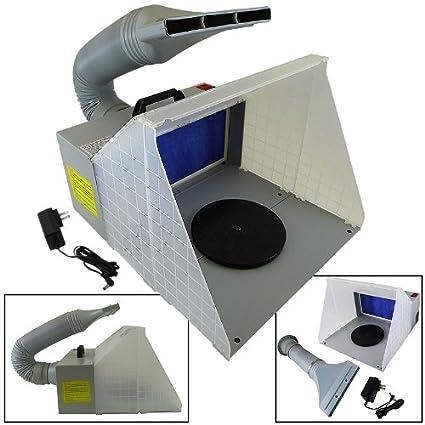 Amazon.com: Portable Hobby aerógrafo pintura spray Booth Kit ...