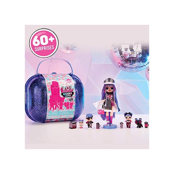 51Ir0yOgj7L L.O.L. surprise winter disco bigger surprise Maletín con muñecas coleccionables y más de 60 sorpresas Giochi preziosi, 421627