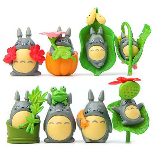 LQT Ltd 8Pcs/lot Totoro Pumpkin Action Figures Toys Dolls Japanese Cartoon Toys Models Cute Desk Toys Christmas Toys for Children Baby Dolls
