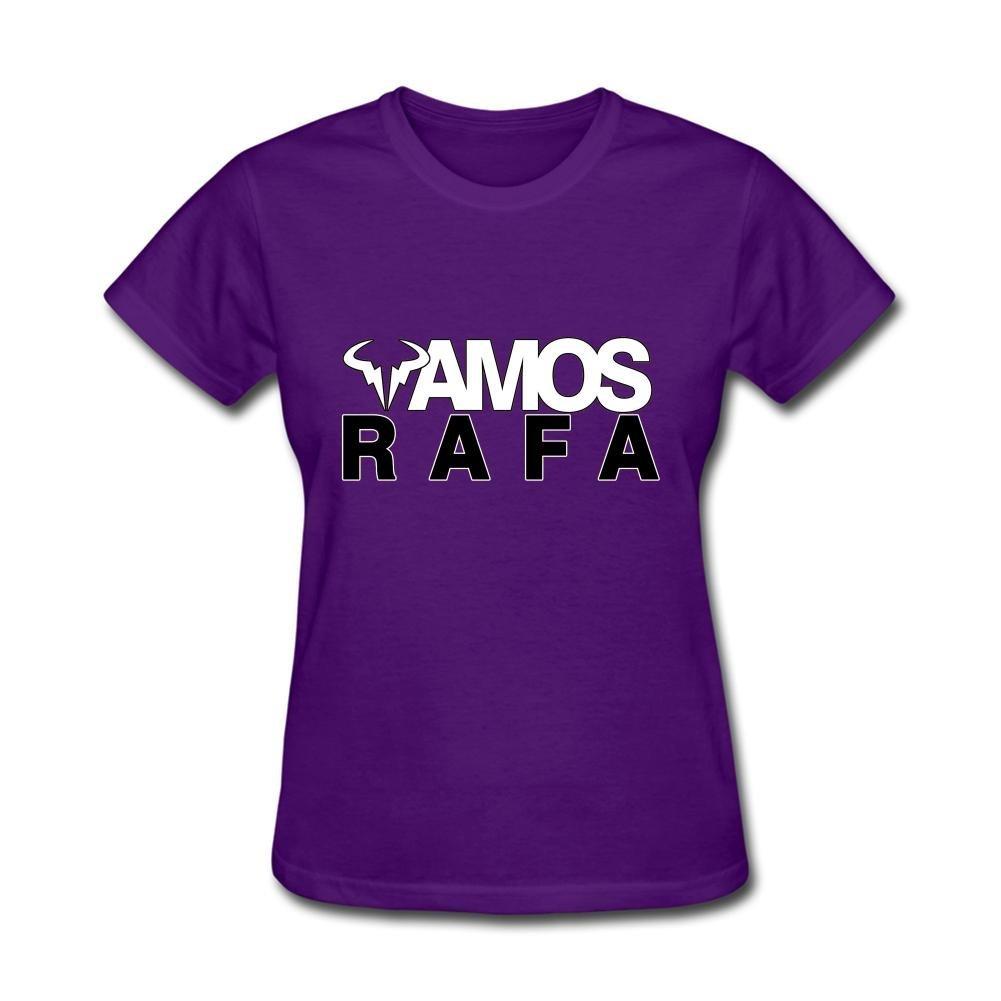 53681471 Amazon.com: Women's Rafael Nadal Rafa Vamos Logo Short Sleeve T-Shirt:  Clothing