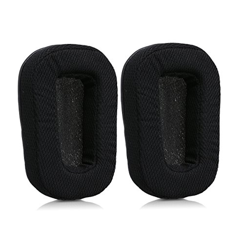 kwmobile 2x earpads for Logitech G933 / G633 Earphones - Leatherette replacement ear pad for Logitech Headphones - black by kwmobile