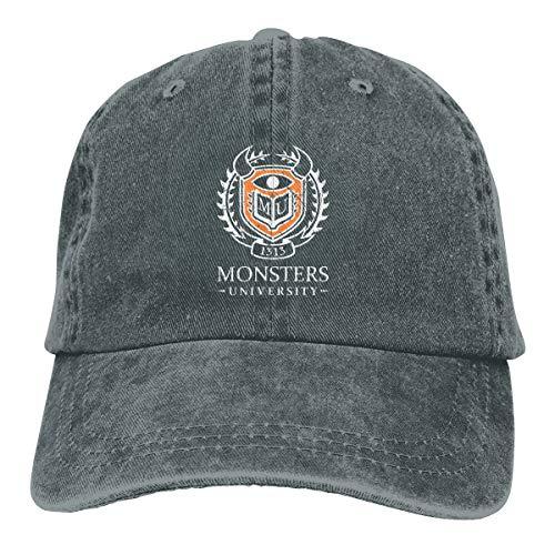 Uclipers Unisex Monsters University - Distressed Vintage Jeans Baseball Cap Classic Cotton Dad Hat Adjustable Plain Cap Deep Heather (Monster University Baseball Hat)