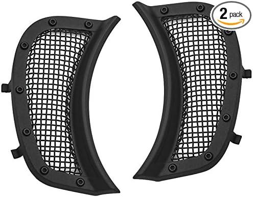 Kuryakyn Satin Black Mesh Headlight Vent Accents Pair for Harley 2015-2018 Road Glide Models