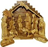 Olive Wood Nativity Set - Traditional Carving