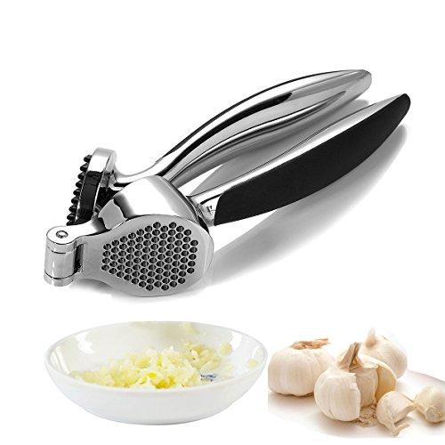 Garlic Press,WBSEos Stainless Steel Garlic Press Hand