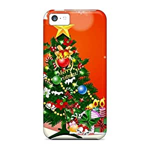 New Cux1441HKjp Merry Christmas Tree Tpu Cover Case For Iphone 5c