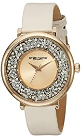 Stuhrling Original Women's 793.03 Vogue Rose Gold-Tone Stainless Steel Watch