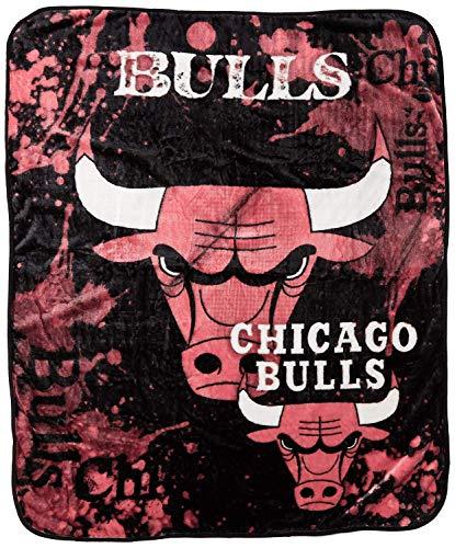 The Northwest Company NBA Chicago Bulls Dropdown Royal Plush Raschel Throw Blanket, 50x60-Inch