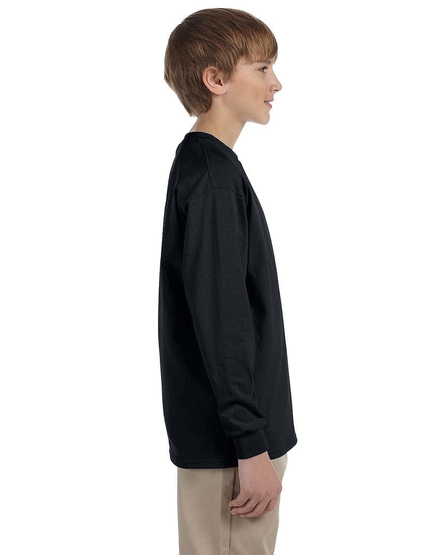 G240B - BLACK,S Long-Sleeve T-Shirt Gildan Ultra Cotton Youth 6 oz