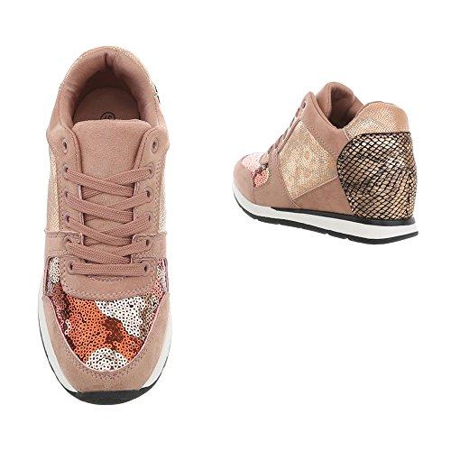 High Compensé w8 Baskets Ltp520 Chaussures Multi Mode Femme Sneakers Espadrilles design Rose Ital wgqZBB