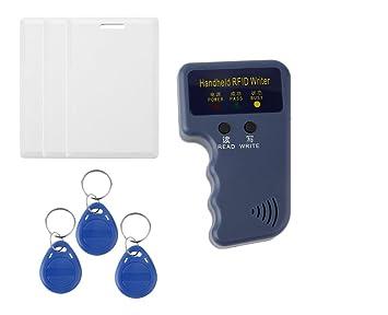Amazon.com: Handheld RFID 125 KHz EM4100 em410 X tarjeta de ...