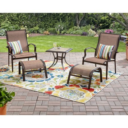 Mainstays Wesley Creek 5-Piece Leisure Set (Brown)