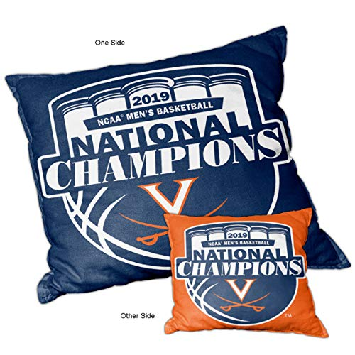 College Flags and Banners Co. University of Virginia Cavaliers 2019 Basketball National Champions Logo Pillow