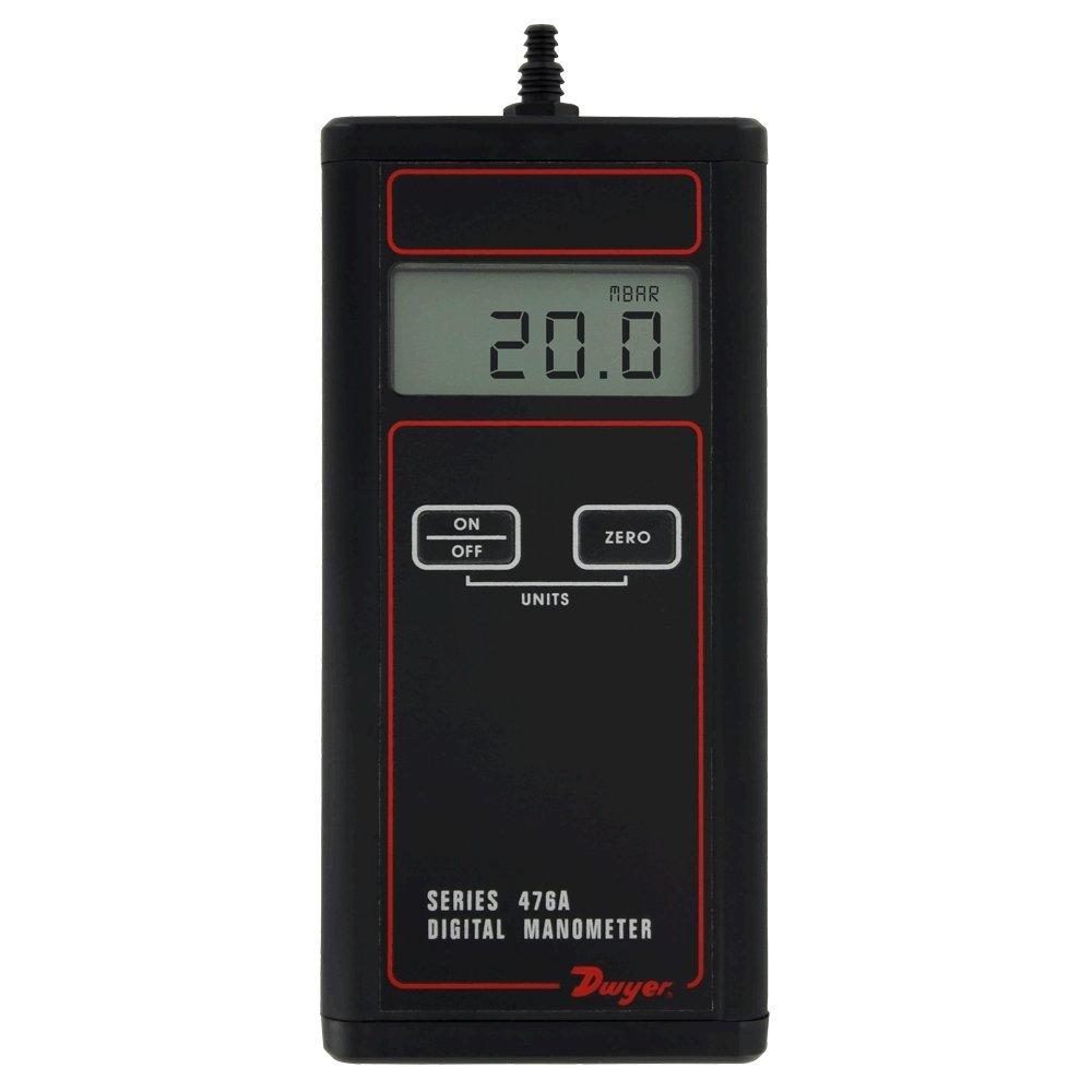 Dwyer Single Low Pressure Digital Manometer Handheld, 476A-0, -20-0-20 Inc