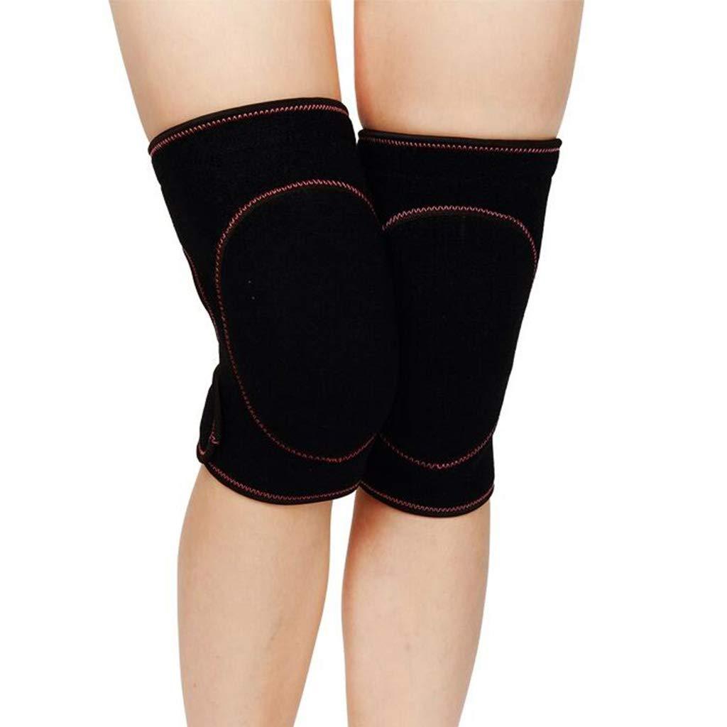HQCC Men's Sports Knee Pads Ladies Dance Yoga Sponge Running Protective Pink (Color : Black)