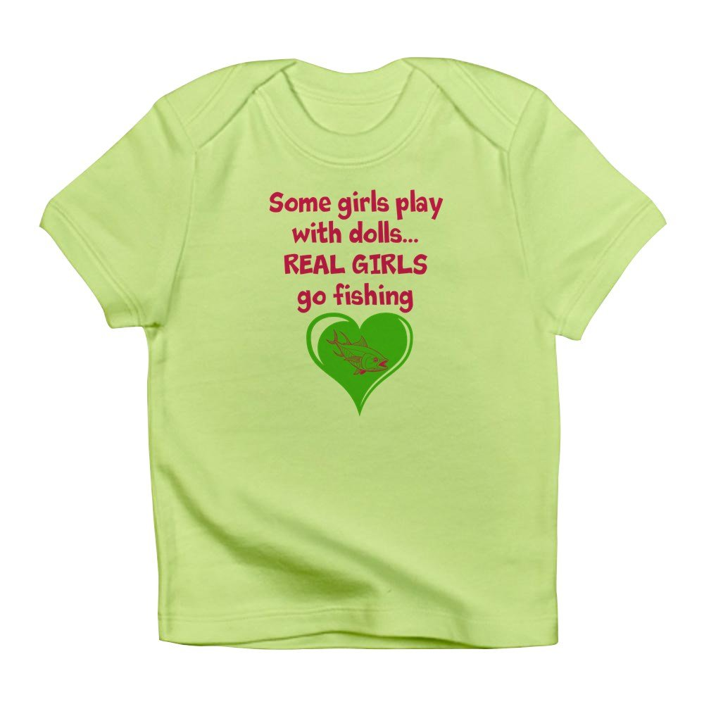d6b44a70164 Amazon.com  CafePress - Real Girls Go Fishing Infant T-Shirt - Cute Infant  T-Shirt