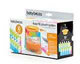 Baby Brezza Reusable Baby Food Storage Pouch - Make Organic Food Puree for Your Toddler and Store in Refillable Squeeze Pouches - Bulk Set of 10 Zipper Pouches