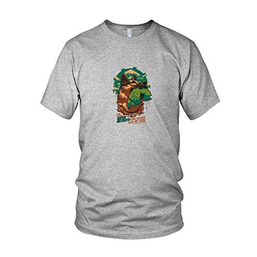 Super Mutant Dog - Herren T-Shirt, Größe: L, Farbe: grau meliert