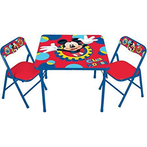 New Disney Mickey Mouse Activity Table and Chair Set by Disney
