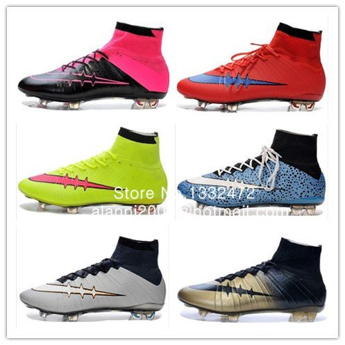 Amazon.com: Superfly FG Mens Football Boots Zapatos Botas Botines De Futbol Zapatillas High Ankle Cleats Soccer Shoes Chuteira Futebol 2015: Sports & ...