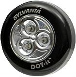Sylvania 36008 DOT-it Self-Adhesive Bright-White LED Tap Light, Black