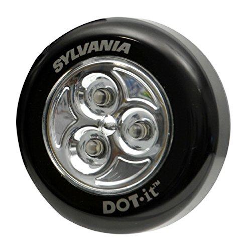 Price comparison product image Sylvania 36008 DOT-it Self-Adhesive Bright-White LED Tap Light,  Black