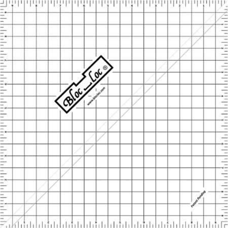 Bloc Loc~9.5'' Half Square Triangle Ruler, Acrylic Ruler by Bloc Loc