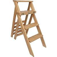 beech wood convertible ladder 4 steps into a chair- Beige