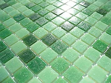 Fliesentopshop Glasmosaik Fliesen Pool Dusche Bad Mosaik Grun