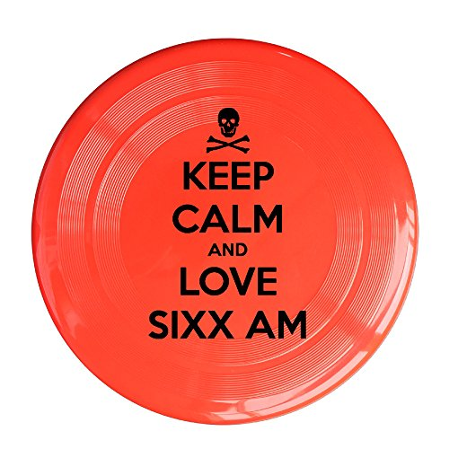 RCINC Keep Calm And Love Band Outdoor Game Frisbee Flyer Frisbee Red - Kong Flyer Disc