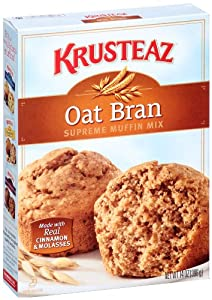 Krusteaz Oat Bran Supreme Muffin Mix, 14-Ounce Boxes (Pack of 12)