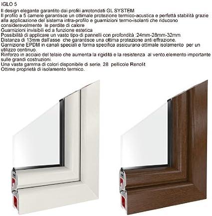2 fach Verglasung Fenster Dreh-Kipp wei/ß -BxH:90x40 cm DIN Rechts -wei/ß verschiedene Ma/ße Kellerfenster Premium Kunststoff