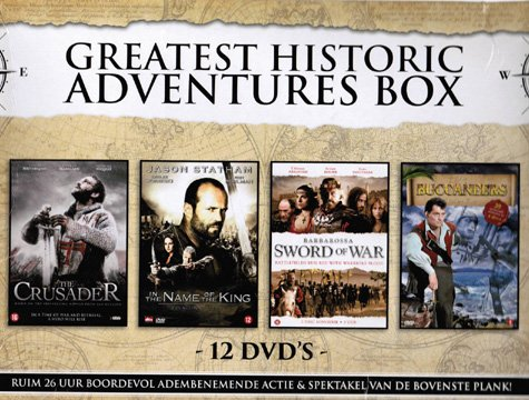 Greatest Historic Adventures (4 Mini-Series) - 12-DVD Box Set ( Arn: The Knight Templar (The Crusader) / In the Name of the King: A Dungeon Siege Ta [ NON-USA FORMAT, PAL, Reg.2 Import - Netherlands ] (In The Name Of The King Series)