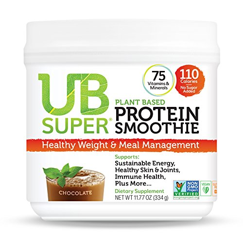 UB Super Plant Based, Vegan Protein Powder, Gluten Free, SuperFood, Nutrient Rich, Smoothie Mix Dietary Supplement (Chocolate)