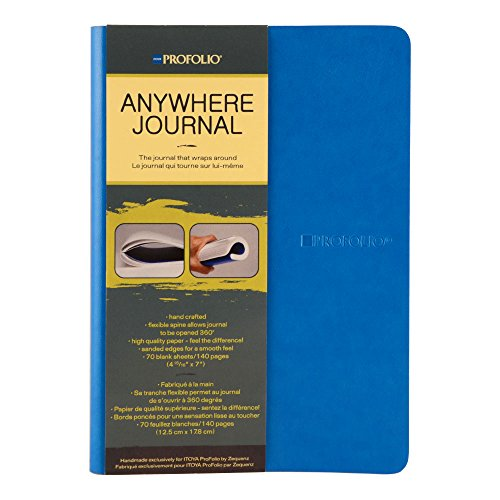 Itoya Anywhere Journal with Flexible Spine, 70 Blank Shee...