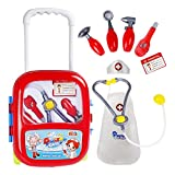 Doctor Kit Set Nurse Coat Pretend Play Toy Gift for Kids Age 3,4,5,6 with Stethoscope,Travel Suitcase,Medical Tools Accessories Educational Learning Playset
