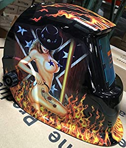 USA seller: Hg Auto Darkening Solar Powered Welders Welding Helmet Mask With Grinding Function by prolinepro