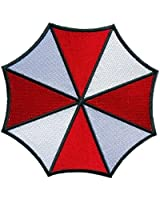"Resident Evil Small Umbrella Corporation Logo Shoulder Patch, NEW 3"" Iron Sew On"