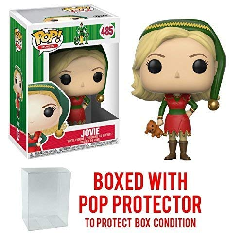 Funko Pop! Holidays: Elf the Movie - Jovie Elf Outfit Vinyl Figure (Bundled with Pop BOX PROTECTOR CASE)