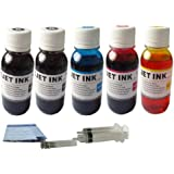 ND Brand Dinsink 20OZ(2x4oz BK+4oz C+4oz M+4oz Y) refill ink kit with syringes for HP 61 61xl ink cartridge:Deskjet 1000, Deskjet 1050, Deskjet 2050, Deskjet 3000, Deskjet 3050, Deskjet 3050A, Deskjet 3054,...The item with ND Logo!