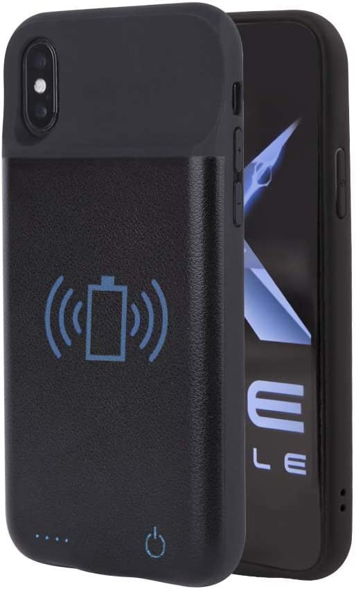 Axe Mobile - Battery Case for iPhone 6/7/8 and iPhone 6/7/8 Plus with Qi Wireless Charging, 2600/3800 mAh Portable Protective Charging Case Extended Battery Charger (iPhone Xs Max)