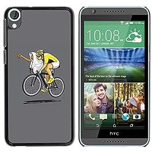 TECHCASE**Cubierta de la caja de protección la piel dura para el ** HTC Desire 820 ** Funny E.T Bicycle Race