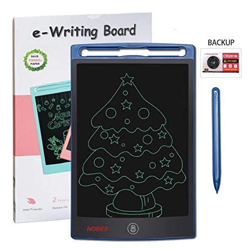 LCD Writing Tablet NOBES 8.5 Inch Writing & Drawing Board Doodle Board, Handwriting Paper Drawing Tablet for Kids and Adults at Home School Office (Blue)