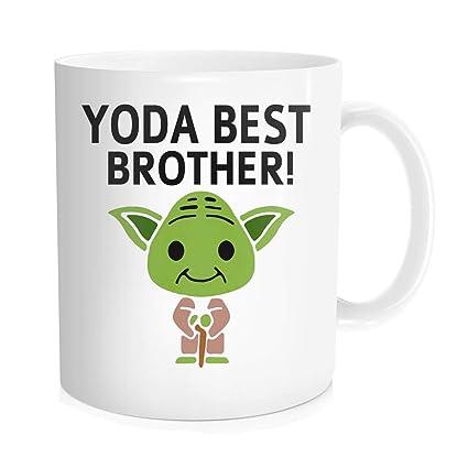 Amazon Chilltreads Yo Da Best Brother Mug Funny Star Fans Coffee Cup Big Birthday Present 11 Oz White Home Kitchen