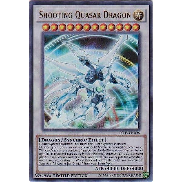 NM LC05-EN005 YugiohShooting Quasar Dragon Ultra Rare