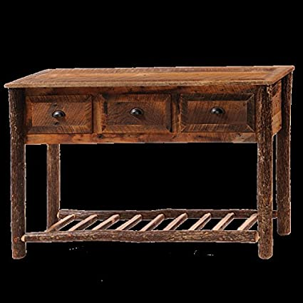 Barnwood Console Table Real Wood Western Lodge Rustic Cabin
