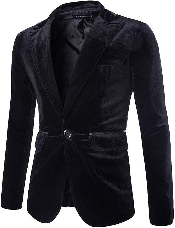 Uomo Abito Giacca Uomo Moda Formale Casuale Business un Pulsante Giacca Blazer