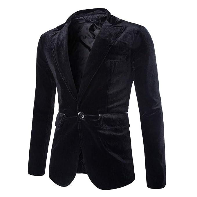 fabbcefc6a4a3 CLOOM Giacca Invernale Uomo Uomo Fashion Pure Velluto a Coste Casual  Pulsante Singolo Tuta di Velluto Cappotto Outwear Trench Giacche Jacket Top  Camicetta  ...