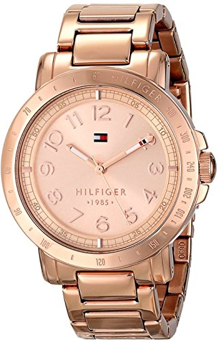 Tommy Hilfiger Women's 1781396 Rose-Gold Stainless-Steel Analog Quartz Watch with Rose-Gold Dial